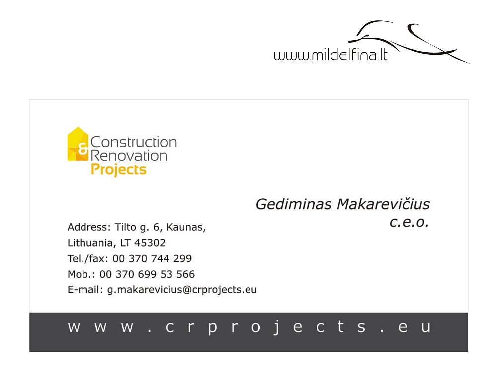 "Vizitinė ""Crprojects"""